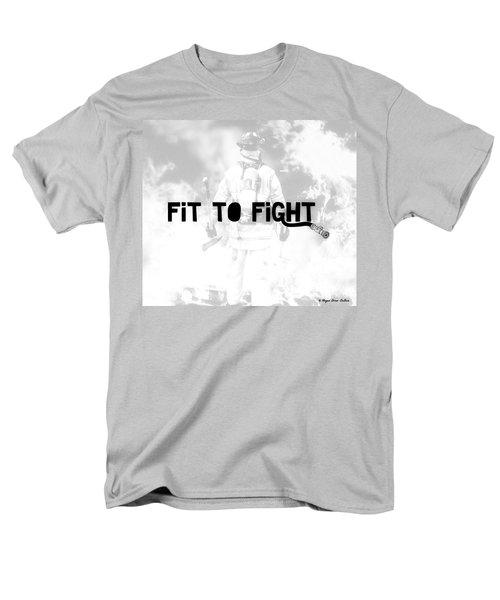 Fireman In White Men's T-Shirt  (Regular Fit) by Megan Dirsa-DuBois