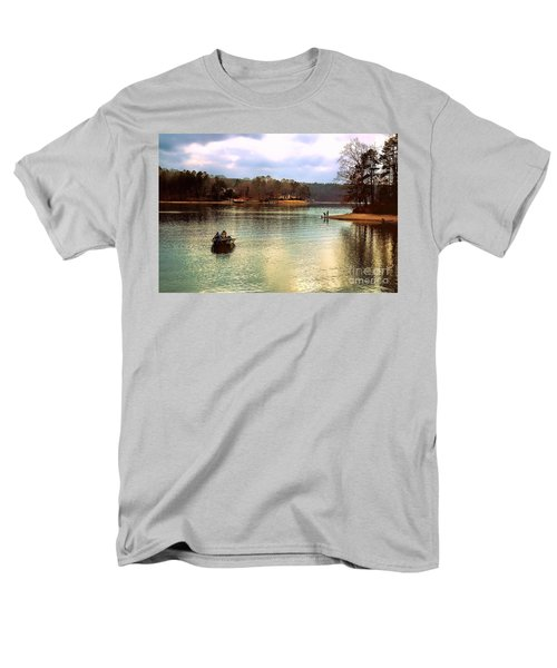 Men's T-Shirt  (Regular Fit) featuring the photograph Fishing Hot Springs Ar by Diana Mary Sharpton