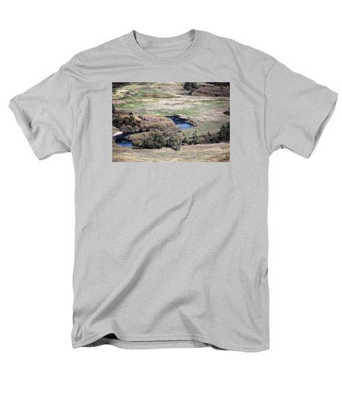 Flathead River 3 Men's T-Shirt  (Regular Fit) by Janie Johnson