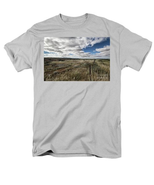 Men's T-Shirt  (Regular Fit) featuring the photograph Flinders Ranges Fields V2 by Douglas Barnard