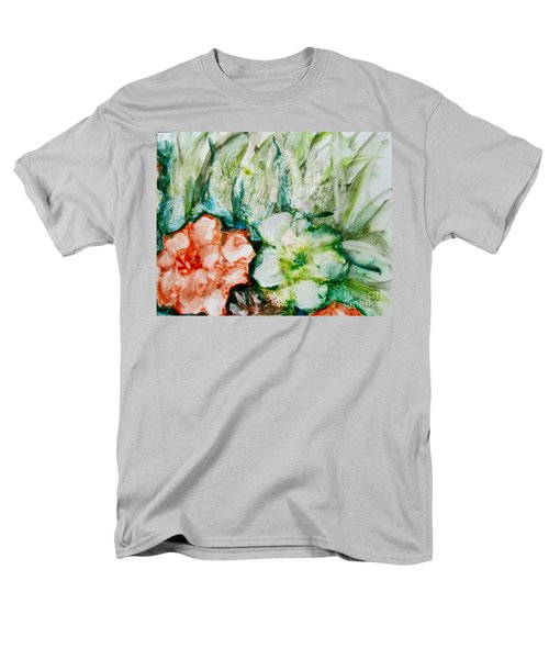 Floating Flowers 3 Men's T-Shirt  (Regular Fit) by Laurie Morgan