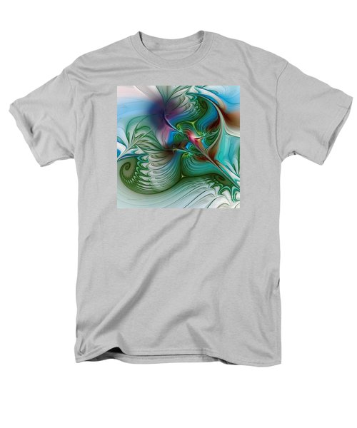 Men's T-Shirt  (Regular Fit) featuring the digital art Floating Through The Abyss by Karin Kuhlmann