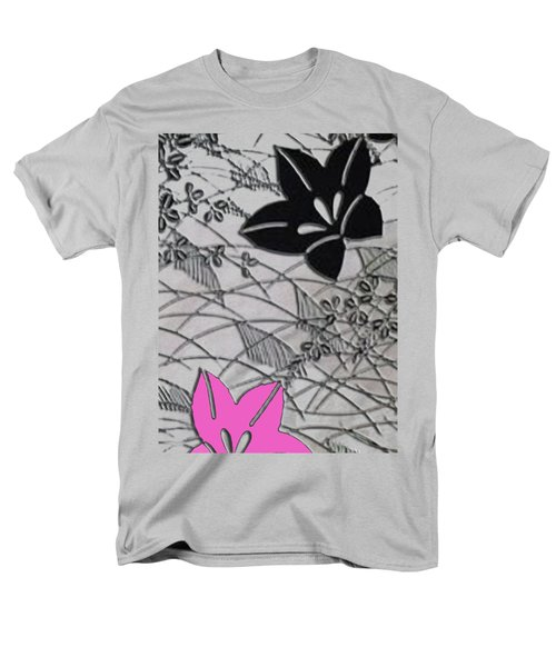 Men's T-Shirt  (Regular Fit) featuring the digital art Floral Chirimen by Asok Mukhopadhyay