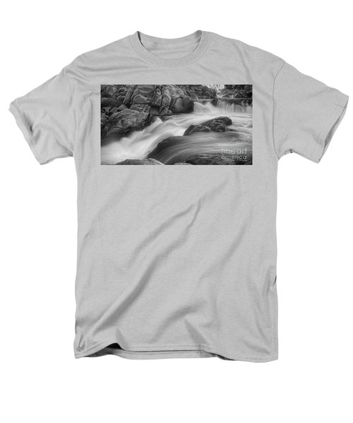 Men's T-Shirt  (Regular Fit) featuring the photograph Flowing Waters At Kern River, California by John A Rodriguez