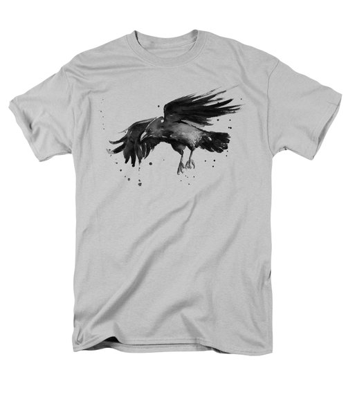 Flying Raven Watercolor Men's T-Shirt  (Regular Fit) by Olga Shvartsur