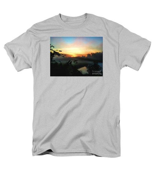 Foggy Edges Sunrise Men's T-Shirt  (Regular Fit) by Craig Walters