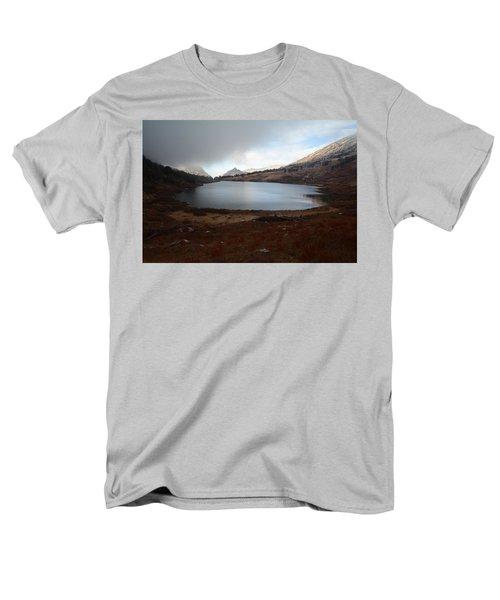 Men's T-Shirt  (Regular Fit) featuring the photograph Foggy Favre Lake by Jenessa Rahn
