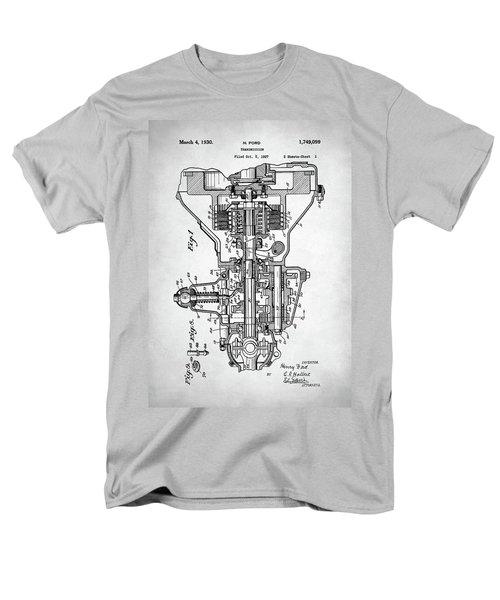 Men's T-Shirt  (Regular Fit) featuring the digital art Ford Engine Patent by Taylan Apukovska