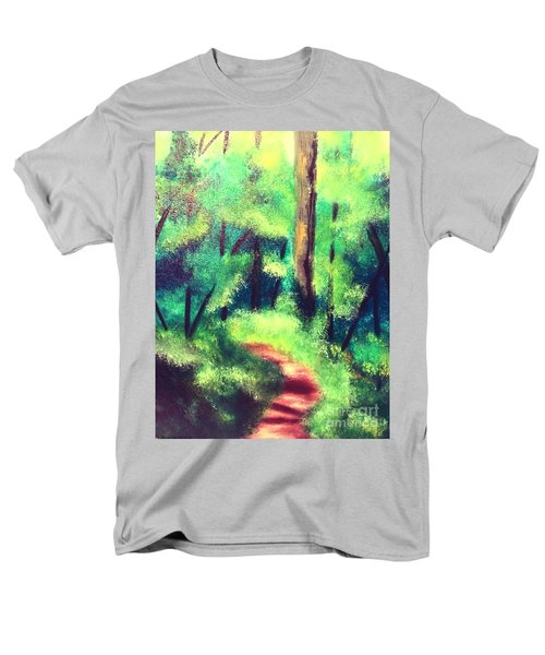 Forest Path Men's T-Shirt  (Regular Fit) by Denise Tomasura