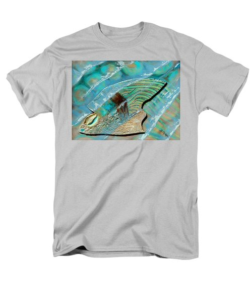 Men's T-Shirt  (Regular Fit) featuring the painting Fossil On The Shore by Suzanne McKee