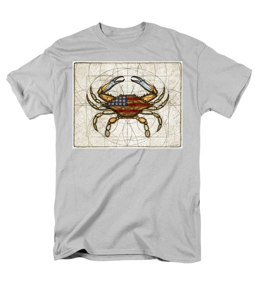 Men's T-Shirt  (Regular Fit) featuring the painting Fourth Of July Crab by Charles Harden