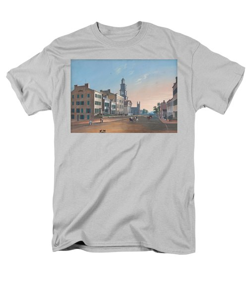 Men's T-Shirt  (Regular Fit) featuring the painting Fourth Street. West From Vine by John Caspar Wild