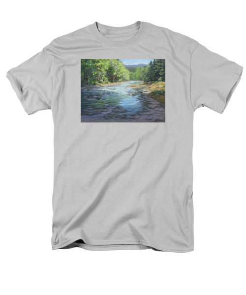 Men's T-Shirt  (Regular Fit) featuring the painting Fresh Greens by Karen Ilari