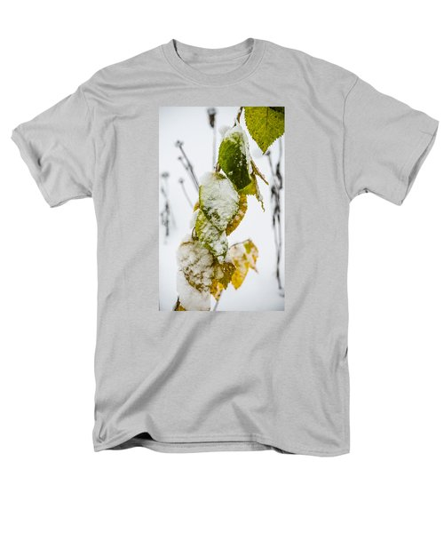 Men's T-Shirt  (Regular Fit) featuring the photograph Frosted Green And Yellow by Deborah Smolinske