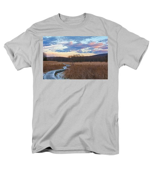 Frosty Blue Trail Men's T-Shirt  (Regular Fit) by Angelo Marcialis