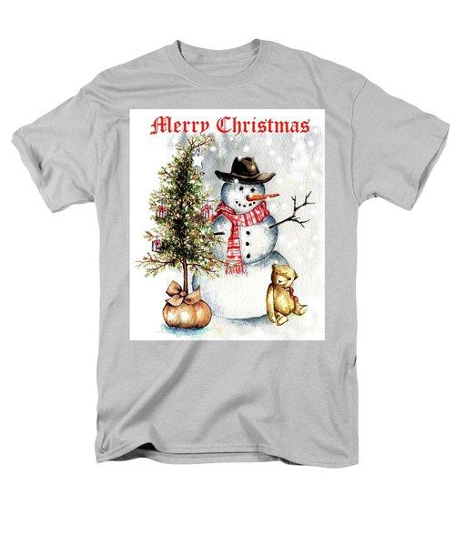Frosty The Snowman Greeting Card Men's T-Shirt  (Regular Fit) by Heidi Kriel