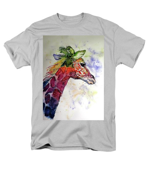 Men's T-Shirt  (Regular Fit) featuring the painting Funny Giraffe by Kovacs Anna Brigitta