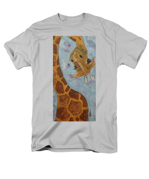 Giraffe Tall Men's T-Shirt  (Regular Fit) by Terri Einer