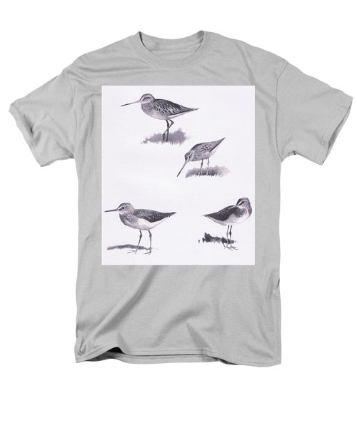 Godwits And Green Sandpipers Men's T-Shirt  (Regular Fit) by Archibald Thorburn