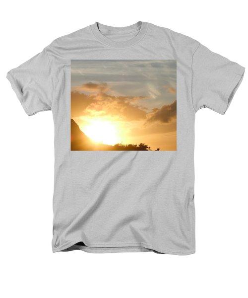 Golden Oahu Sunset Men's T-Shirt  (Regular Fit) by Karen J Shine