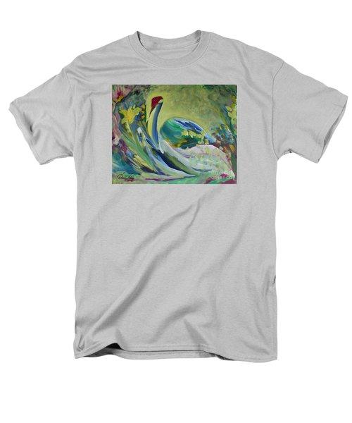 Graceful Swan Men's T-Shirt  (Regular Fit) by Denise Hoag