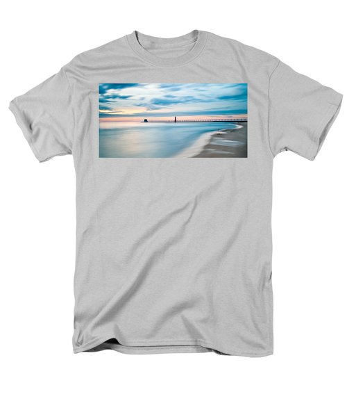 Grand Haven Pier - Smooth Waters Men's T-Shirt  (Regular Fit) by Larry Carr