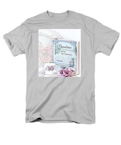 Grandmother...tell Me Your Memories Men's T-Shirt  (Regular Fit) by Sherry Hallemeier