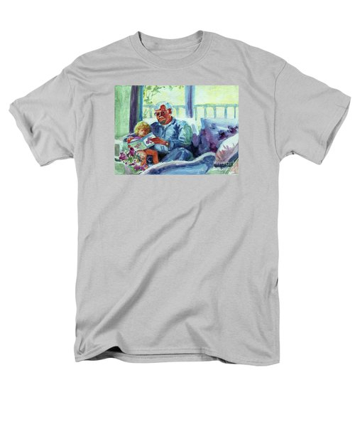 Men's T-Shirt  (Regular Fit) featuring the painting Grandpa Reading by Kathy Braud