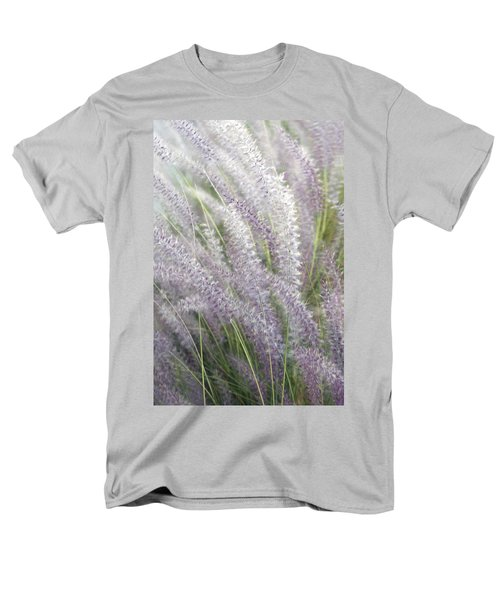 Men's T-Shirt  (Regular Fit) featuring the photograph Grass Is More - Nature In Purple And Green by Ben and Raisa Gertsberg