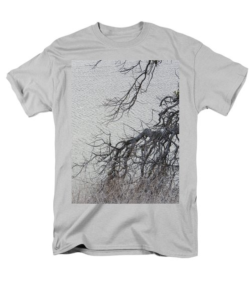 Gray Day At The Lake - Bare Branches Men's T-Shirt  (Regular Fit) by Brooks Garten Hauschild