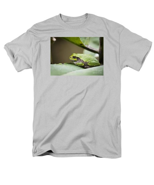 Men's T-Shirt  (Regular Fit) featuring the photograph Gray Tree Frog - North American Tree Frog by Ricky L Jones