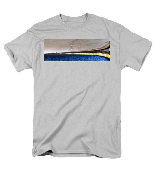 Great Belt Bridge Men's T-Shirt  (Regular Fit) by Gert Lavsen