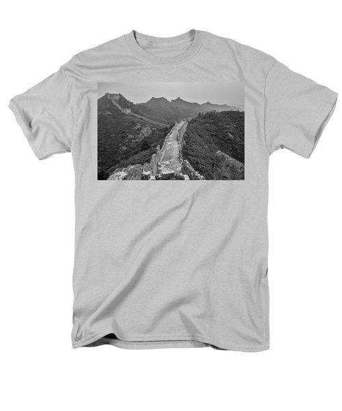 Men's T-Shirt  (Regular Fit) featuring the photograph Great Wall 6, Jinshanling, 2016 by Hitendra SINKAR