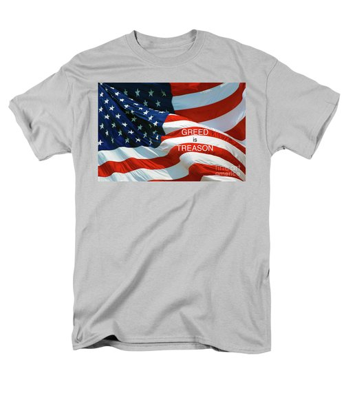 Men's T-Shirt  (Regular Fit) featuring the photograph Greed Is Treason by Paul W Faust - Impressions of Light