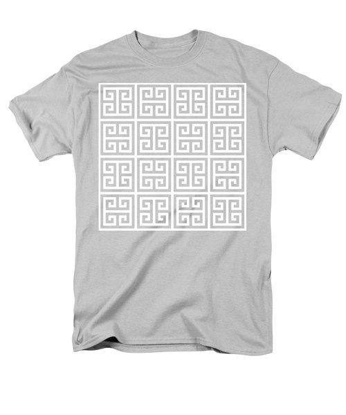 Men's T-Shirt  (Regular Fit) featuring the digital art Greek Pattern 2 - Chuck Staley by Chuck Staley
