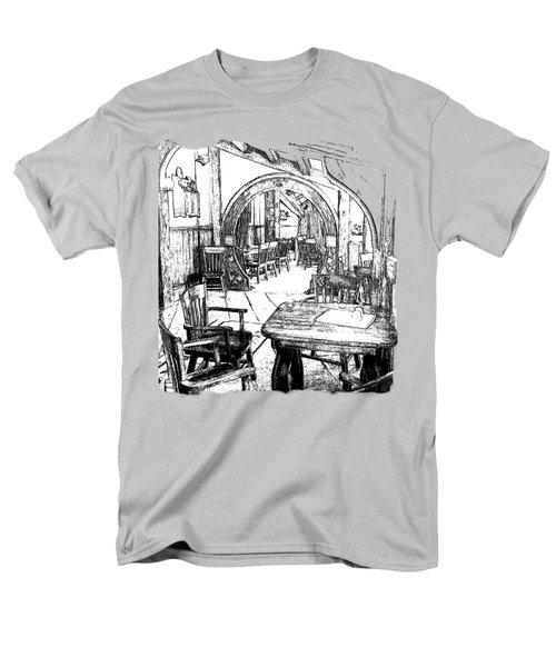 Men's T-Shirt  (Regular Fit) featuring the drawing Green Dragon Inn's Writing Nook T-shirt by Kathy Kelly
