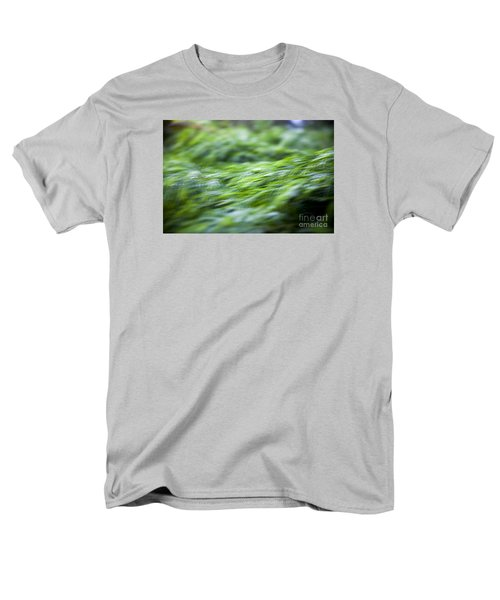 Men's T-Shirt  (Regular Fit) featuring the photograph Green Waterfall 1 by Serene Maisey
