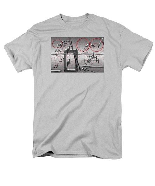 Grey And Red Circles Men's T-Shirt  (Regular Fit) by Tina M Wenger