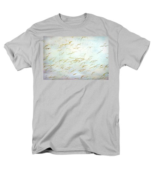 Men's T-Shirt  (Regular Fit) featuring the painting Gulls At The Beach by Peggy Collins