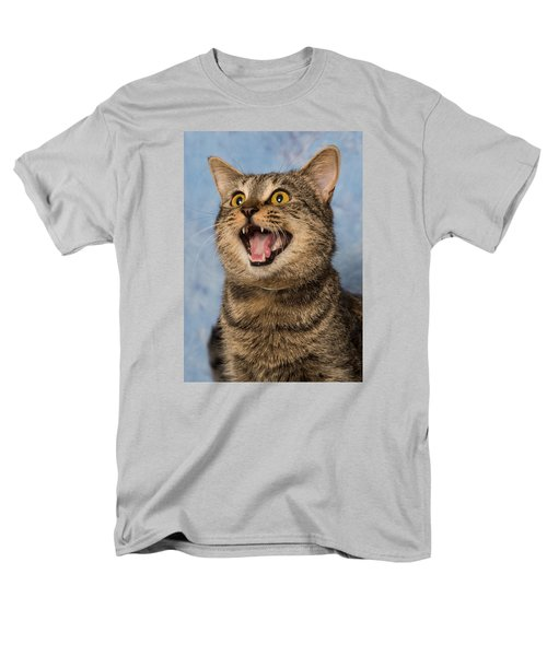 Men's T-Shirt  (Regular Fit) featuring the photograph Happy Cat by Janis Knight