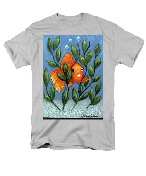 Happy Goldfish Men's T-Shirt  (Regular Fit) by Sandra Estes