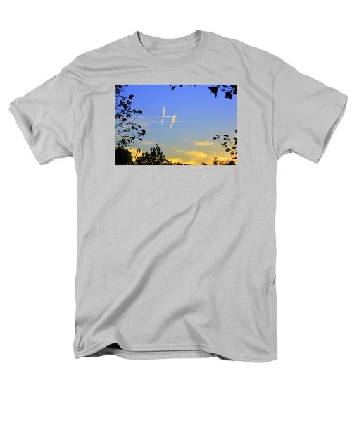 Hashtag Sky Men's T-Shirt  (Regular Fit) by Lew Davis