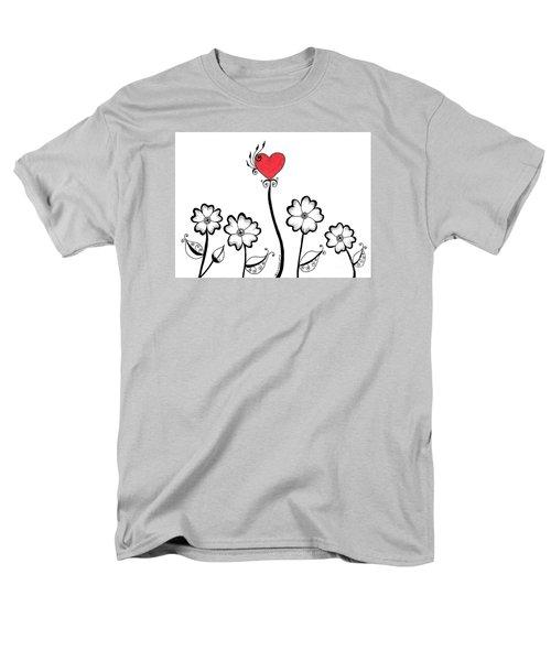 Heart Flower Men's T-Shirt  (Regular Fit) by Billinda Brandli DeVillez