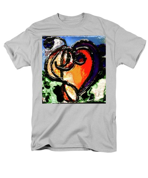 Men's T-Shirt  (Regular Fit) featuring the painting Heart Robin Treble by Genevieve Esson