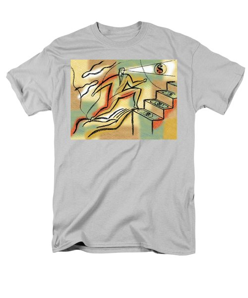 Men's T-Shirt  (Regular Fit) featuring the painting Helping Hand And Money by Leon Zernitsky
