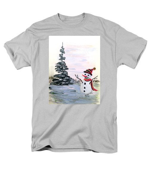 Men's T-Shirt  (Regular Fit) featuring the painting Here I Am by Dorothy Maier