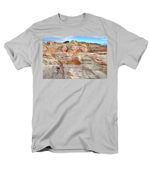 High Above Valley Of Fire Men's T-Shirt  (Regular Fit) by Ray Mathis