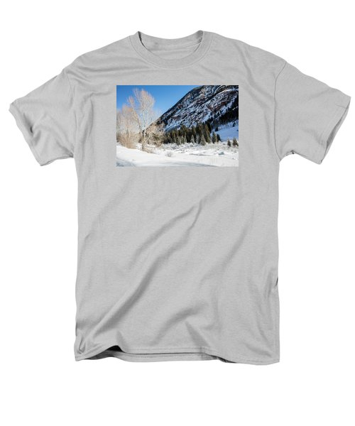 High In The Rockies Before Independence Pass Men's T-Shirt  (Regular Fit) by Carol M Highsmith