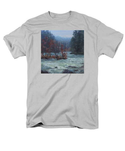 Men's T-Shirt  (Regular Fit) featuring the painting High Water by Karen Ilari