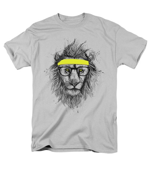 Hipster Lion Men's T-Shirt  (Regular Fit) by Balazs Solti
